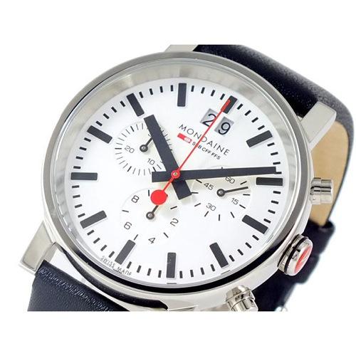 モンディーン MONDAINE クロノグラフ 腕時計 A6903030411SBB></a><p class=blog_products_name