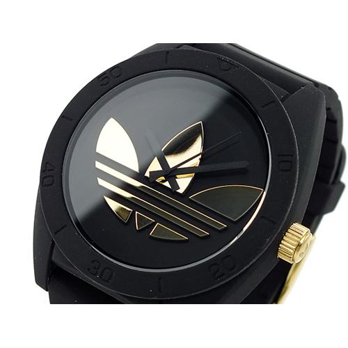 アディダス ADIDAS サンティアゴ 腕時計 ADH2712 ブラック×ゴールド