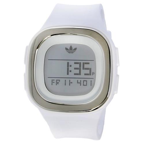 アディダス オリジナルス デンバー デジタル ユニセックス 腕時計 ADH3032 ホワイト/シルバー