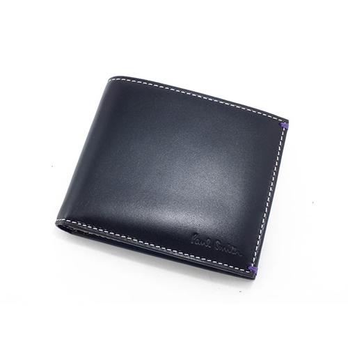 ポールスミス PAULSMITH 二つ折りメンズ 短財布 AHXA/1033/W513 ブラック