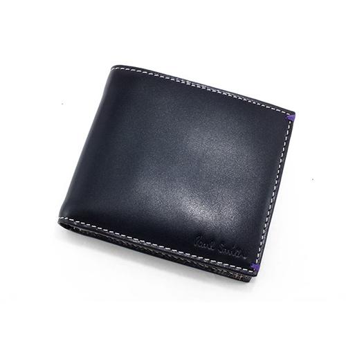 ポールスミス PAULSMITH 二つ折りメンズ 短財布 AHXA/1033/W514 ブラック