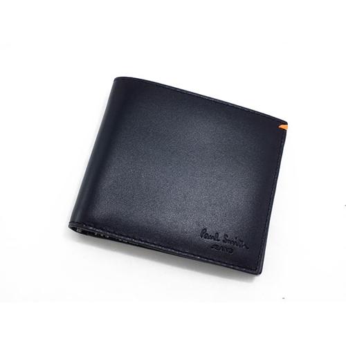 ポールスミス PAULSMITH 二つ折りメンズ 短財布 AHXJ/2663/W510 ブラック