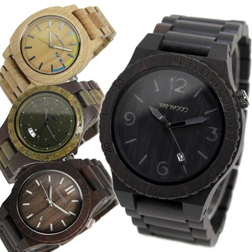 ウィーウッド WEWOOD 木製 メンズ 腕時計 ALPHA-BLACK ブラック 国内正規