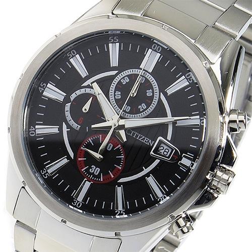 シチズン CITIZEN クロノ クオーツ メンズ 腕時計 AN3560-51E ブラック