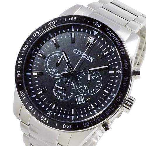 シチズン CITIZEN クオーツ メンズ クロノ 腕時計 AN8070-53E ブラック/シルバー
