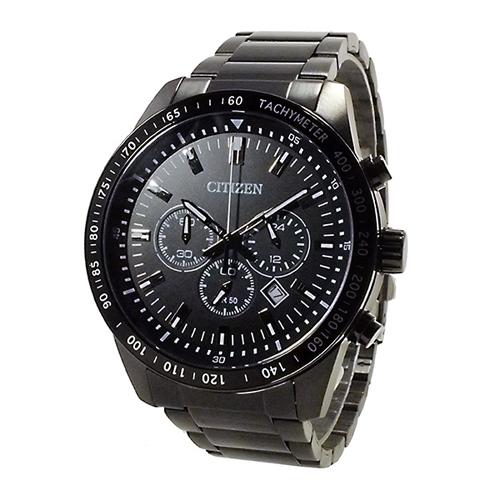 シチズン CITIZEN クオーツ メンズ クロノ 腕時計 AN8075-50E ブラック/ブラック