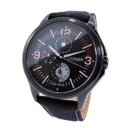 シチズン CITIZEN クオーツ メンズ 腕時計 AP4005-11E ブラック/オレンジ
