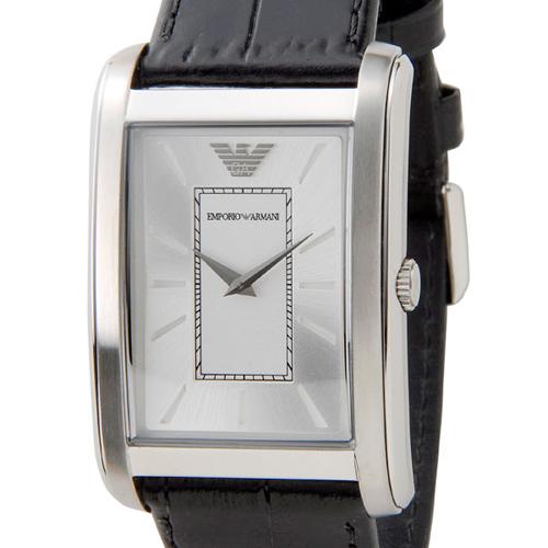 エンポリオ アルマーニ クラシック クオーツ メンズ 腕時計 AR1869 ブラック