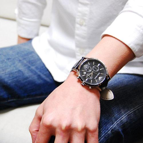 エンポリオアルマーニ EMPORIO ARMANI クロノグラフ メンズ 腕時計 AR2447