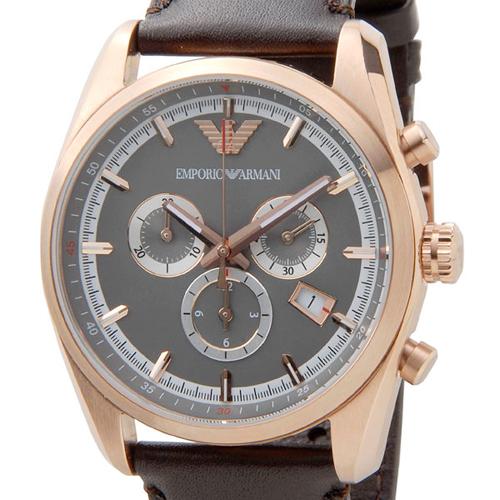 エンポリオ アルマーニ クラシック クオーツ メンズ 腕時計 AR6005 グレー
