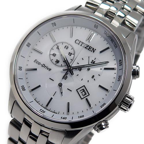シチズン CITIZEN クオーツ メンズ クロノ 腕時計 AT2140-55A ホワイト