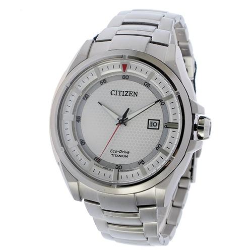 シチズン エコドライブ ソーラー チタン クオーツ メンズ 腕時計 AW1401-50A シルバー