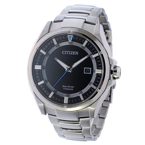 シチズン エコドライブ ソーラー チタン クオーツ メンズ 腕時計 AW1401-50E ブラック