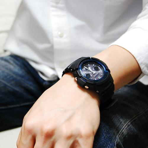 カシオ CASIO Gショック 電波 ソーラー マルチバンド6 腕時計 AWG-M100A-1A