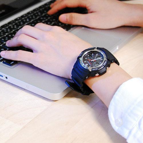 カシオ CASIO Gショック G-SHOCK アナデジ ソーラー 腕時計 AWR-M100-1A