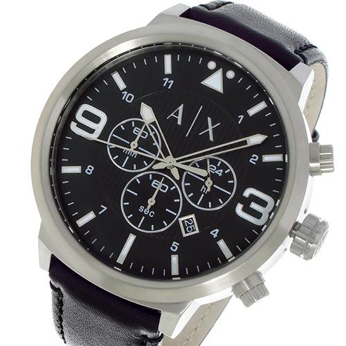 アルマーニエクスチェンジ クロノ クオーツ メンズ 腕時計 AX1371 ブラック></a> <p class=blog_products_name