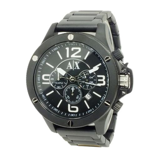 アルマーニ エクスチェンジ クオーツ メンズ クロノ 腕時計 AX1503 ブラック