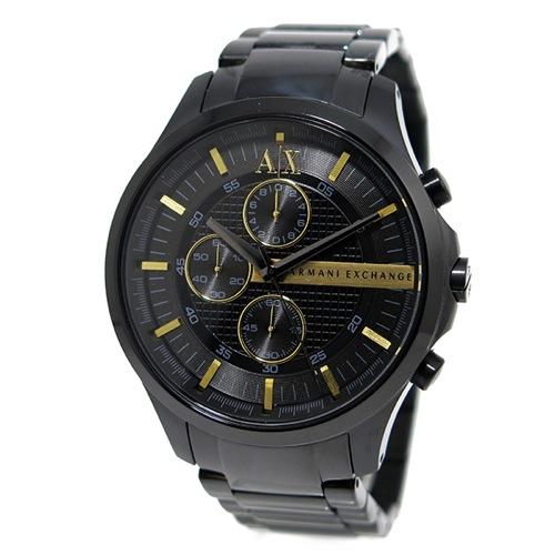 アルマーニ エクスチェンジ クオーツ クロノ メンズ 腕時計 AX2164 ブラック></a><p class=blog_products_name