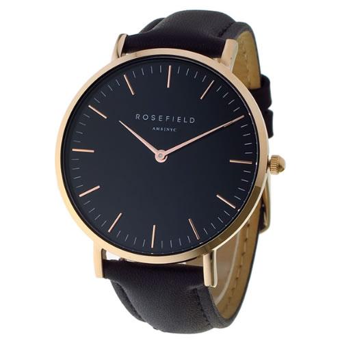 ローズフィールド THE BOWERY 38mm クオーツ ユニセックス 腕時計 BBBR-B11 ブラック></a><p class=blog_products_name