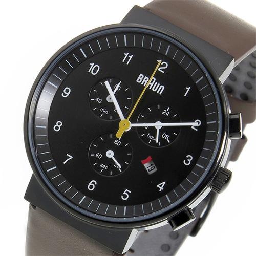 ブラウン BRAUN クロノ クオーツ メンズ 腕時計 BN0035BKBRG ブラック