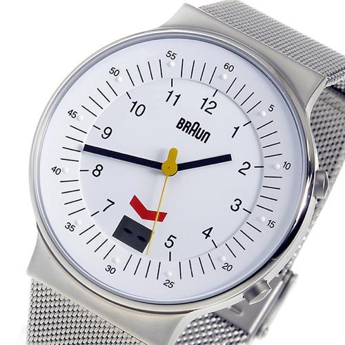 ブラウン BRAUN クオーツ メンズ 腕時計 BN0087WHSLMHG ホワイト