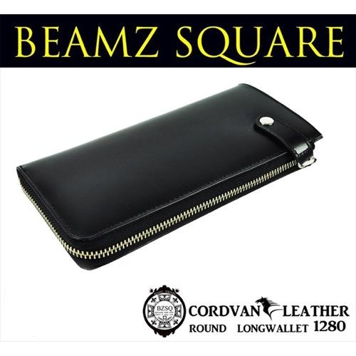 ビームス スクエア BEAMZ SQUARE 長財布 BS-1280ALLBLAK