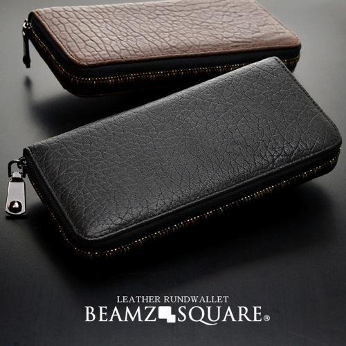 ビームズスクエア BEAMZSQUARE メンズ 長財布 BZSQ-3300BR ブラウン></a><p class=blog_products_name