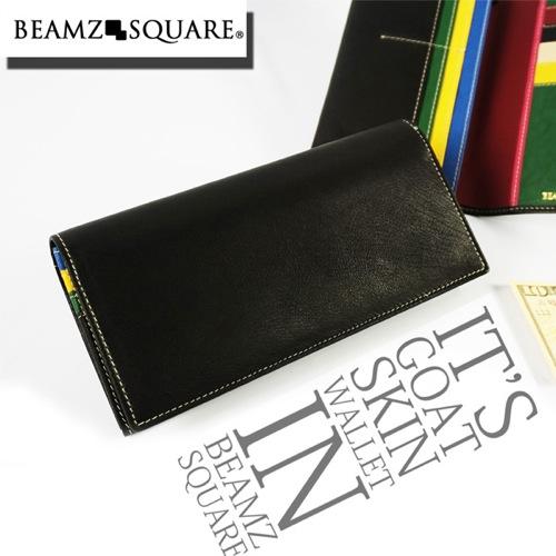 ビームス スクエア BEAMZ SQUARE 長財布 BZSQ337BK-MLT ブラック/マルチカラー