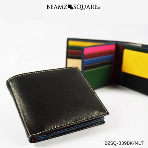 ビームス スクエア BEAMZ SQUARE メンズ 短財布 BZSQ339BKMLT ブラック/マルチ