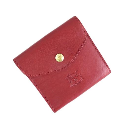 イルビゾンテ ILBISONTE 二つ折り財布 メンズ レディース C0424P-245 ルビーレッド></a><p class=blog_products_name