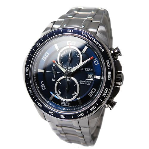 シチズン CITIZEN クオーツ メンズ クロノ 腕時計 CA0346-59L ブルー