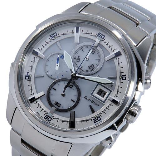 シチズン CITIZEN クオーツ クロノ メンズ 腕時計 CA0370-54A ホワイト