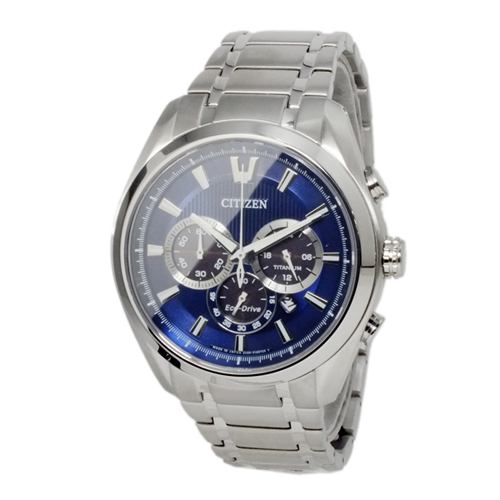シチズン エコドライブ チタン ソーラー メンズ クロノ 腕時計 CA4011-55L