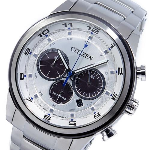 シチズン エコドライブ クロノ クオーツ メンズ 腕時計 CA4034-50A シルバー
