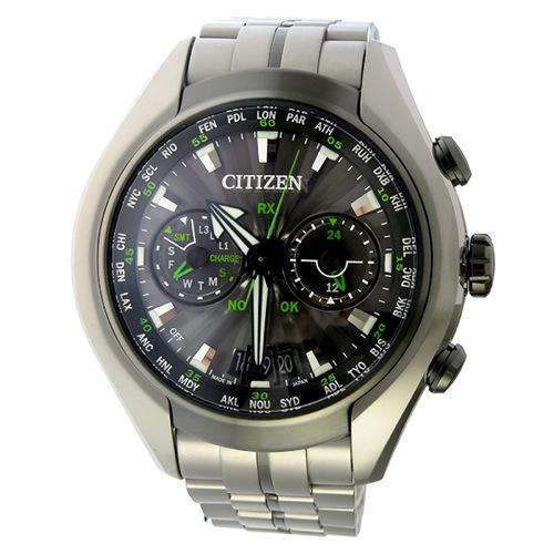 シチズン エコドライブ サテライト ソーラー メンズ 腕時計 CC1054-56E グレー