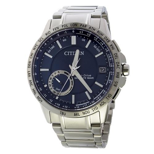 シチズン エコドライブ サテライト ソーラー メンズ 腕時計 CC3001-51L ダークブルー