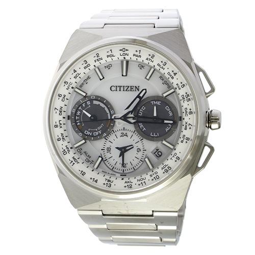 シチズン エコドライブ サテライト クロノ ソーラー メンズ 腕時計 CC9000-51A ホワイト