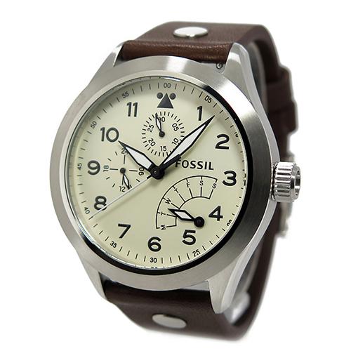 フォッシル FOSSIL エアロフライト クオーツ メンズ 腕時計 CH2938 クリーム