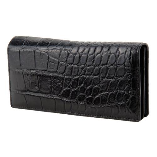 ロダニア RODANIA クロコダイル メンズ 長財布 CJN0556BKMT ブラック マット