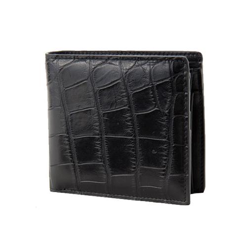 ロダニア RODANIA クロコダイル メンズ 折財布 CJN0558BKMT ブラック マット