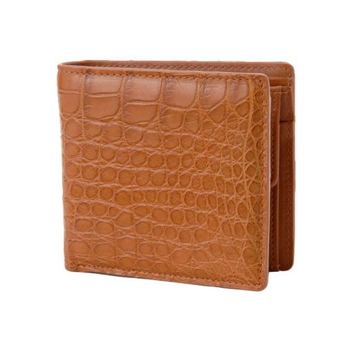 ロダニア RODANIA クロコダイル メンズ 折財布 CJN0558CGCMT キャメル マット