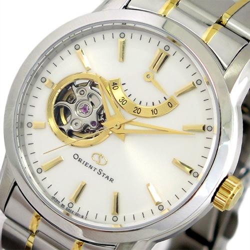 オリエントスター ORIENT STAR 腕時計 メンズ SDA02001W0 自動巻き パールホワイト シルバー></a><p class=blog_products_name