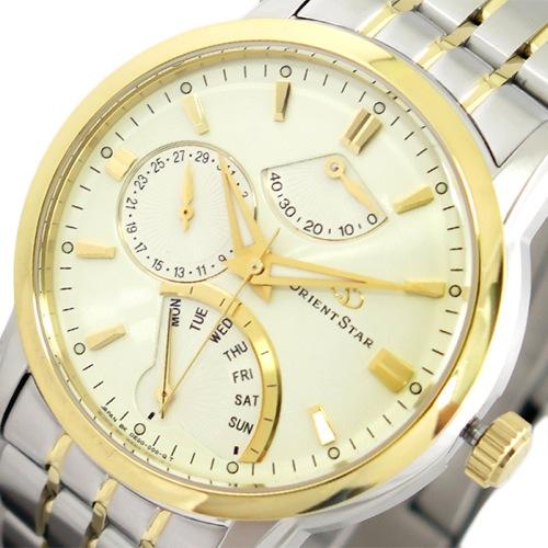 オリエントスター ORIENT STAR 腕時計 メンズ SDE00001W0 自動巻き ゴールド シルバー></a><p class=blog_products_name