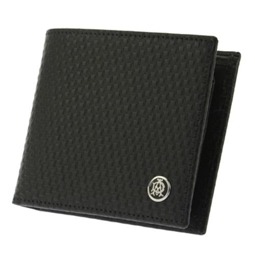 ダンヒル DUNHILL 二つ折り短財布 メンズ L2V332A ブラック