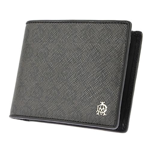ダンヒル DUNHILL 二つ折り短財布 メンズ L2W732Z ブラック