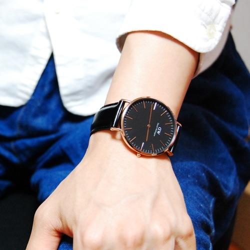 ダニエル ウェリントン クラシック ブラック シェフィールド/ローズ 40mm メンズ 腕時計 DW00100127