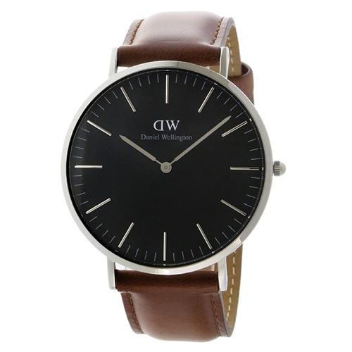 ダニエル ウェリントン クラシック ブラック セントモーズ/シルバー 40mm メンズ 腕時計 DW00100130