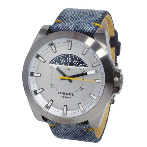 ディーゼル DIESEL アージェス デニム クオーツ メンズ 腕時計 DZ1689 シルバー