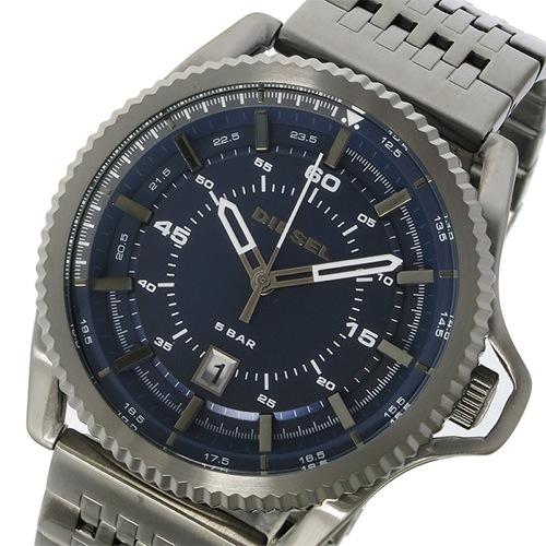 ディーゼル ロールケージ クオーツ メンズ 腕時計 DZ1753 ネイビー