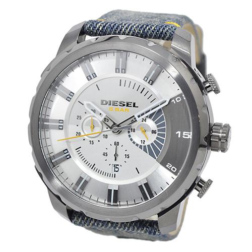 ディーゼル ストロングホールド デニム メンズ クオーツ クロノ 腕時計 DZ4345